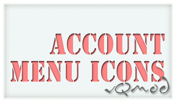 Account Menu Icons