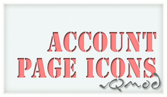 Account Page Icons